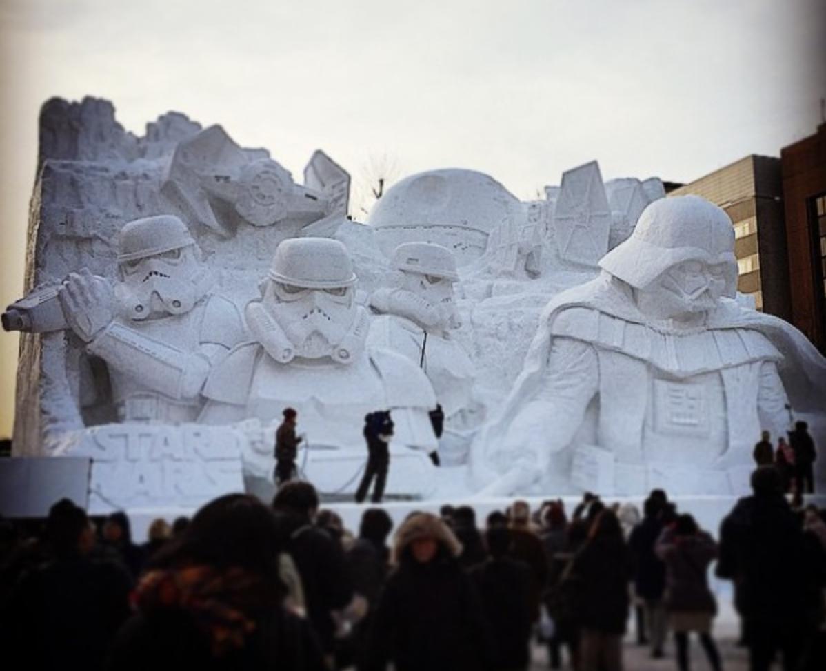 star wars snow sculpture