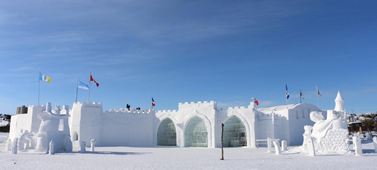 medieval snow sculpture
