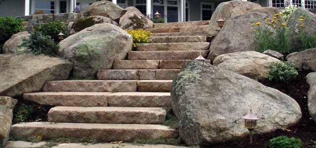 boulder rocks in landscape design