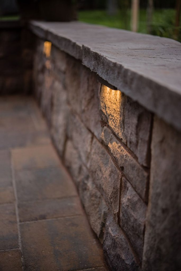 hardscape patio wall