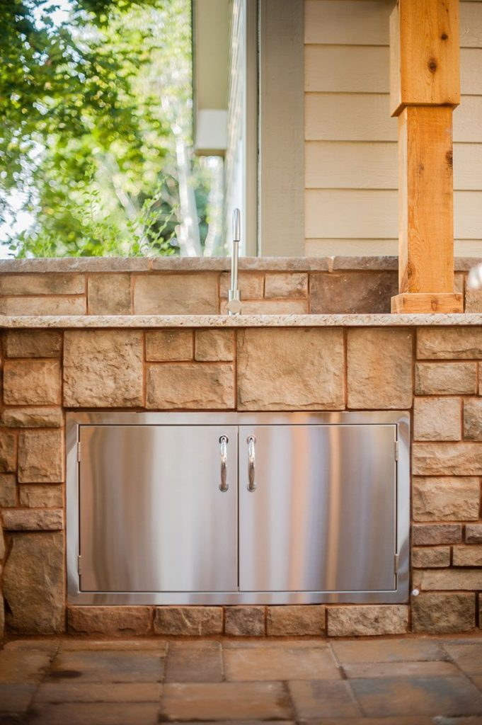 outdoor kitchen and sink