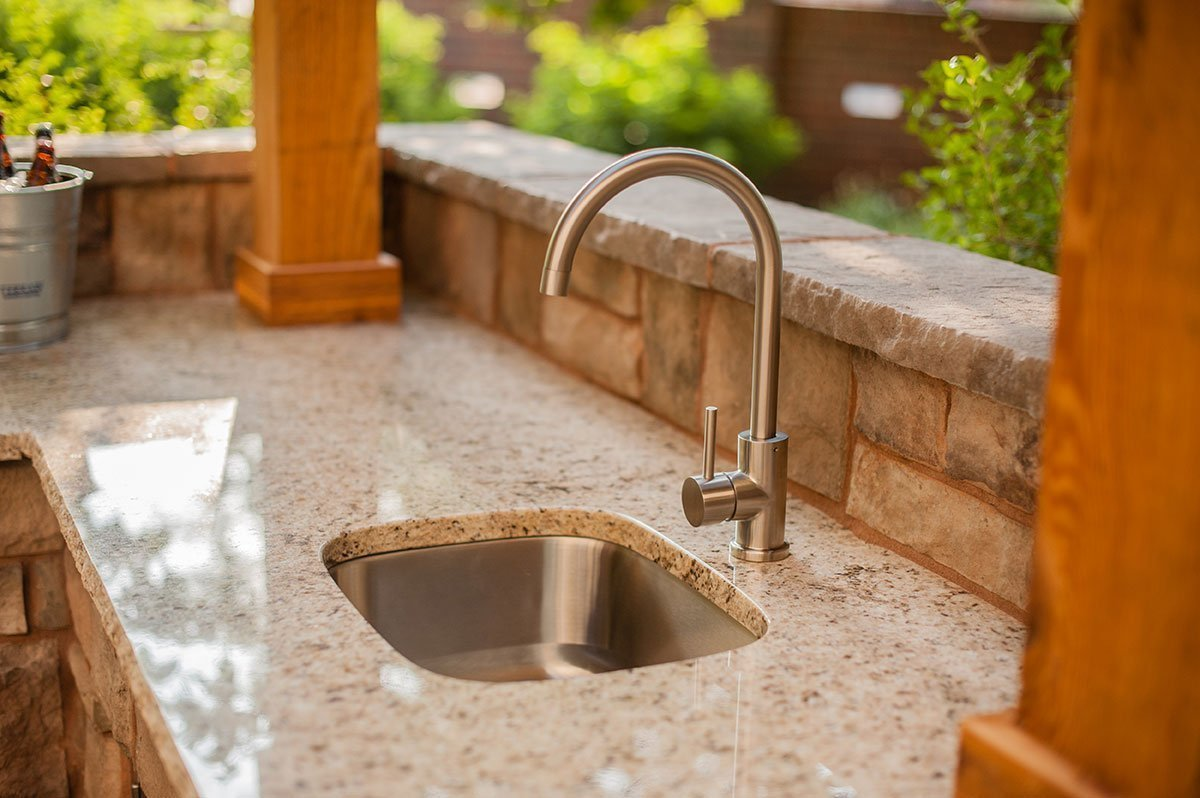 outdoor bar sink